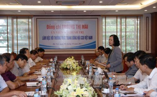 Trưởng ban Dân vận Trung ương Trương Thị Mai làm việc với Hội Cựu chiến binh - ảnh 1