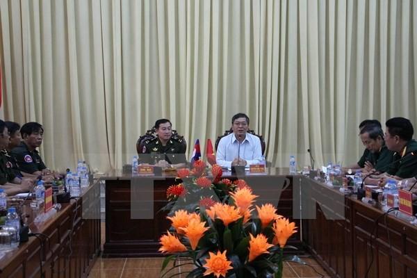 Đoàn Cục Phát triển Quân đội Hoàng gia Campuchia thăm và làm việc tại tỉnh Hậu Giang - ảnh 1