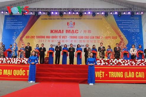 Khai mạc Hội chợ thương mại Quốc tế Việt - Trung 2017 tại tỉnh Lào Cai - ảnh 1