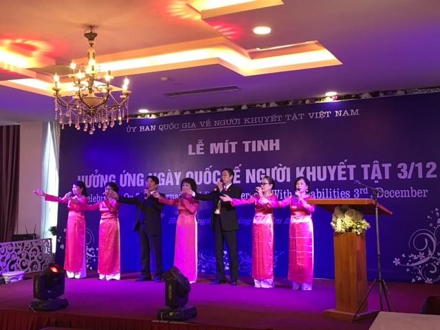 Hà Nội mít tinh kỷ niệm Ngày Quốc tế Người khuyết tật 3/12 - ảnh 1