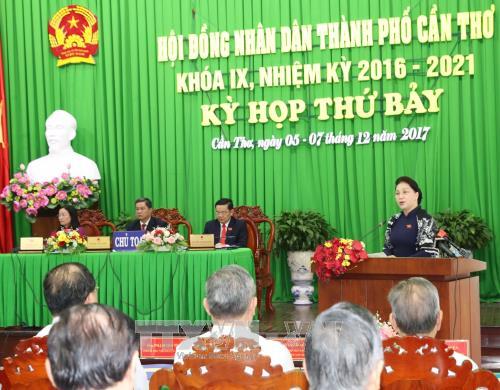 Chủ tịch Quốc hội Nguyễn Thị Kim Ngân dự khai mạc kỳ họp Hội đồng nhân dân khóa IX Thành phố Cần Thơ - ảnh 1
