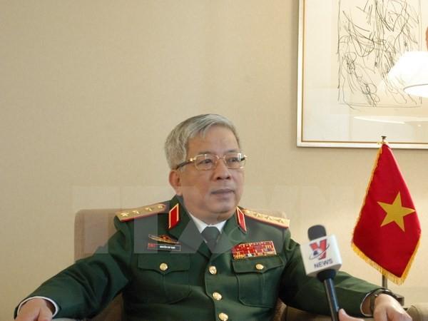 Thượng tướng Nguyễn Chí Vịnh tiếp Cố vấn Thủ tướng Nhật Bản - ảnh 1