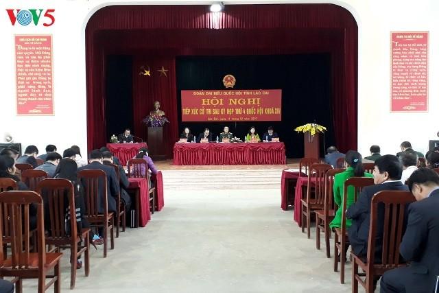 Phó Chủ tịch Quốc hội Đỗ Bá Tỵ tiếp xúc cử tri Lào Cai - ảnh 1