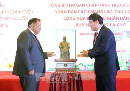 Tổng Bí thư, Chủ tịch nước Lào Bounnhang Vorachith thăm Nghệ An - quê hương Chủ tịch Hồ Chí Minh - ảnh 1