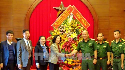 Trưởng Ban Dân vận Trung ương Trương Thị Mai thăm, chúc mừng các đơn vị quân đội tại TP Hồ Chí Minh - ảnh 1