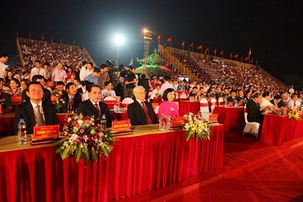 Tổng Bí thư Nguyễn Phú Trọng dự Lễ kỷ niệm 1050 năm nhà nước Đại Cồ Việt tại Ninh Bình - ảnh 1