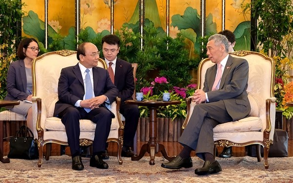 Tuyên bố chung Việt Nam-Singapore - ảnh 1