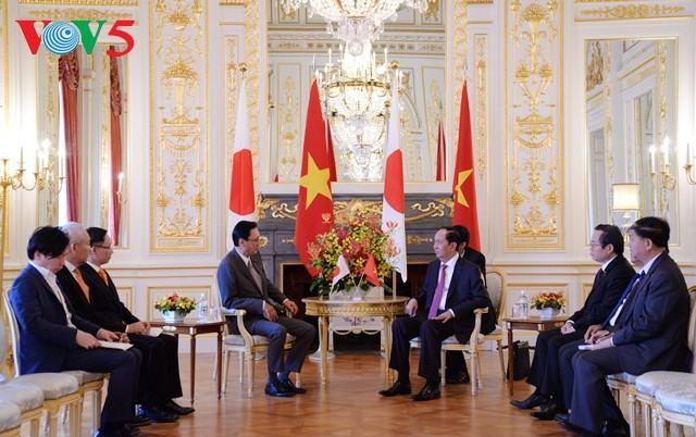 Chủ tịch nước Trần Đại Quang tiếp Chủ tịch Ủy ban Điều hành Hạ viện Nhật Bản - ảnh 1
