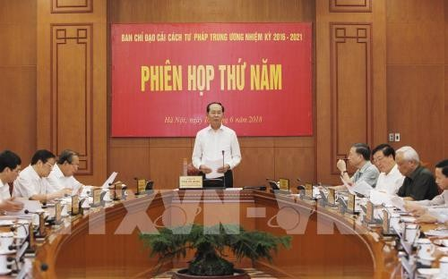 Chủ tịch nước Trần Đại Quang chủ trì Phiên họp thứ năm của Ban Chỉ đạo Cải cách tư pháp Trung ương  - ảnh 1