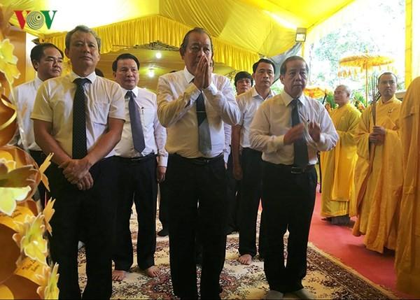 Phó Thủ tướng Thường trực Chính phủ Trương Hòa Bình viếng Hòa thượng Thích Đức Phương - ảnh 2