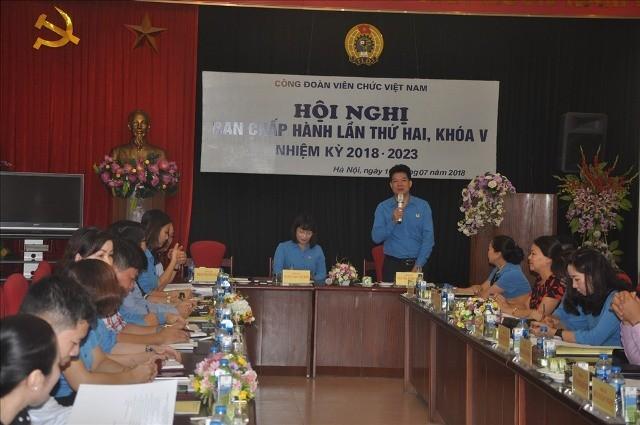 Hội nghị Ban Chấp hành Công đoàn Viên chức Việt Nam lần thứ 2, Khóa V  - ảnh 1