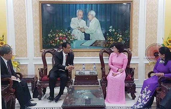 Chia sẻ kinh nghiệm hoạt động Mặt trận giữa Thành phố Hồ Chí Minh và tỉnh Champasak (Lào) - ảnh 1