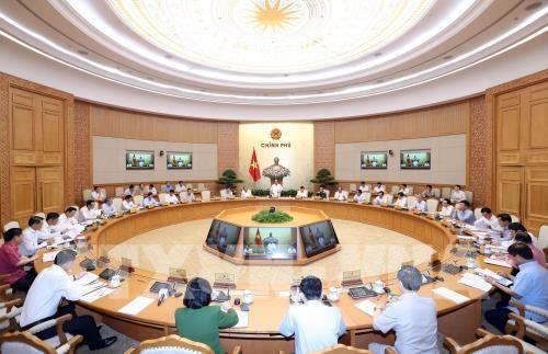 Thủ tướng Nguyễn Xuân Phúc chủ trì thảo luận về tình hình kinh tế xã hội - ảnh 1