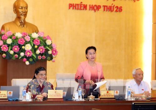Khai mạc phiên họp thứ 26 Ủy ban thường vụ Quốc hội - ảnh 1