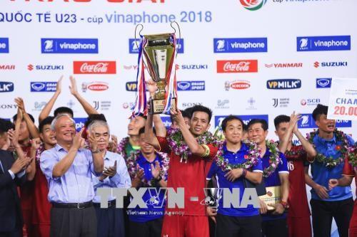 U23 Việt Nam chính thức đăng quang vô địch tại Giải bóng đá quốc tế U23 - Cúp VinaPhone 2018 - ảnh 1