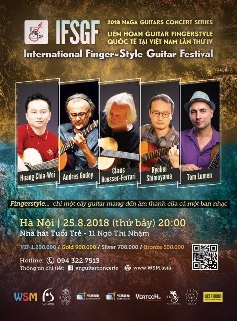 Liên hoan guitar fingerstyle quốc tế tại Việt Nam lần thứ IV  - ảnh 1