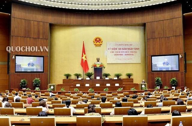Văn phòng Quốc hội tổ chức lễ kỷ niệm 130 năm ngày sinh Chủ tịch nước Tôn Đức Thắng - ảnh 1