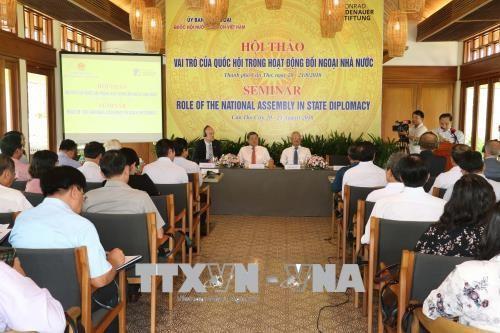 """Hội thảo """"Vai trò của Quốc hội trong hoạt động đối ngoại Nhà nước"""" - ảnh 1"""