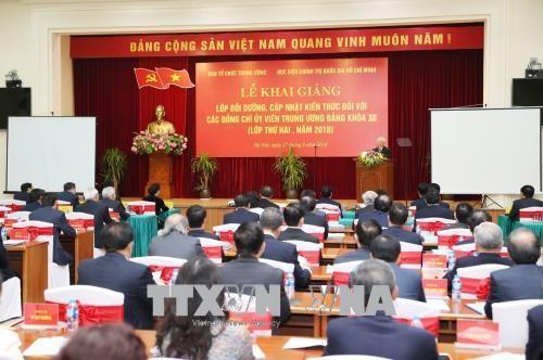 Khai giảng lớp bồi dưỡng, cập nhật kiến thức cho các Uỷ viên Trung ương Đảng Khóa XII  - ảnh 1