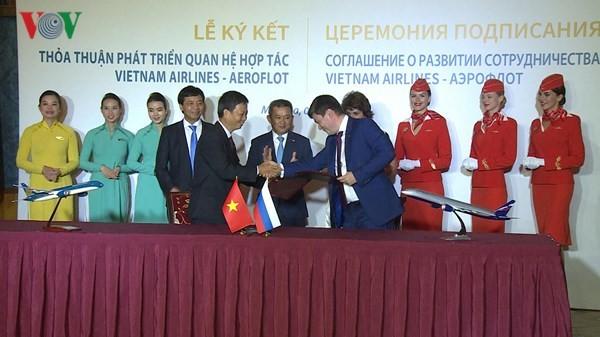 Kỷ niệm 25 năm đường bay Việt Nam - Liên bang Nga - ảnh 1