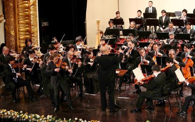 Chủ tịch nước Trần Đại Quang dự Chương trình hòa nhạc kỷ niệm 45 năm thiết lập quan hệ ngoại giao Việt Nam - Nhật Bản - ảnh 2