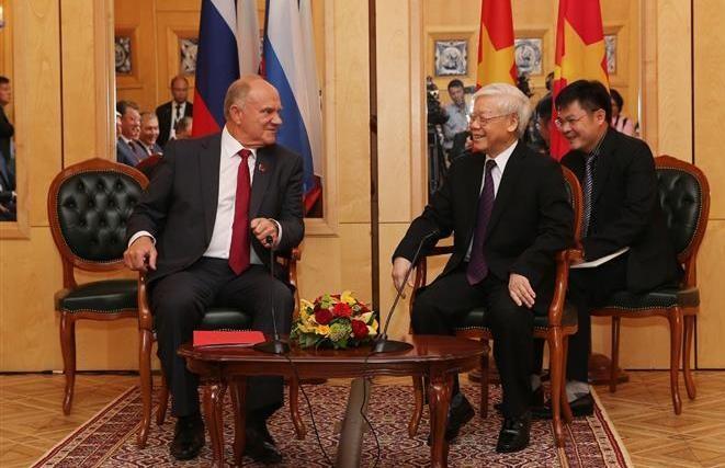 Tổng Bí thư Nguyễn Phú Trọng tiếp Chủ tịch Đảng Cộng sản Liên bang Nga G.Zyuganov - ảnh 1