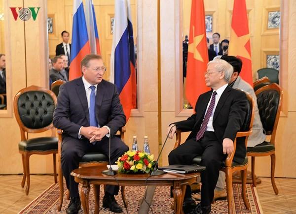 Tổng Bí thư Nguyễn Phú Trọng tiếp lãnh đạo các tập đoàn hàng đầu của Liên bang Nga - ảnh 2