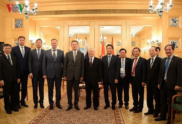 Tổng Bí thư Nguyễn Phú Trọng tiếp lãnh đạo các tập đoàn hàng đầu của Liên bang Nga - ảnh 3