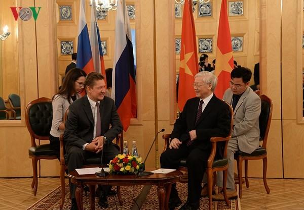 Tổng Bí thư Nguyễn Phú Trọng tiếp lãnh đạo các tập đoàn hàng đầu của Liên bang Nga - ảnh 1