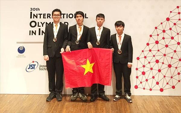 Việt Nam giành huy chương vàng tại Olympic Tin học quốc tế lần thứ 30 - ảnh 1