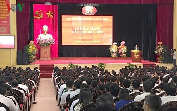 Học viện Chính trị quốc gia Hồ Chí Minh khai giảng năm học 2018-2019 - ảnh 1