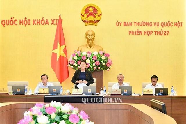 Khai mạc Phiên họp thứ 27 của Ủy ban Thường vụ Quốc hội - ảnh 1