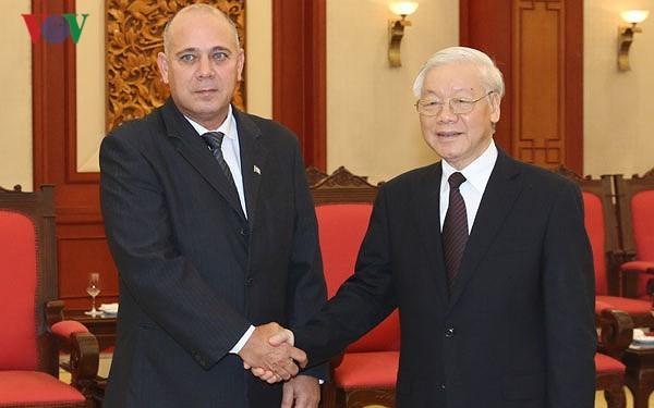 Tổng Bí thư Nguyễn Phú Trọng tiếp Đoàn Đại biểu Cấp cao Cuba - ảnh 1