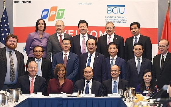 Thủ tướng Nguyễn Xuân Phúc đối thoại với các nhà đầu tư hàng đầu Hoa Kỳ - ảnh 1