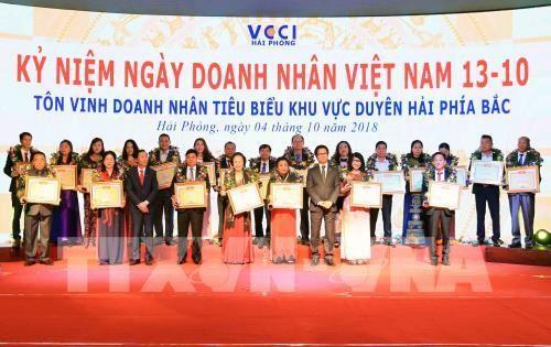 Lễ Tôn vinh doanh nhân tiêu biểu khu vực duyên hải phía Bắc năm 2018 - ảnh 1