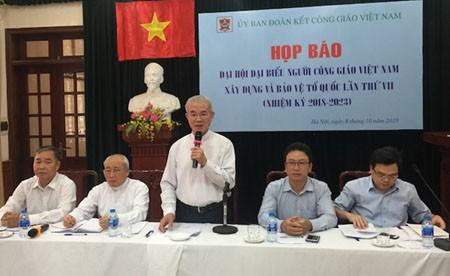 Sắp diễn ra Đại hội đại biểu Người Công giáo Việt Nam xây dựng và bảo vệ Tổ quốc lần thứ VII - ảnh 1