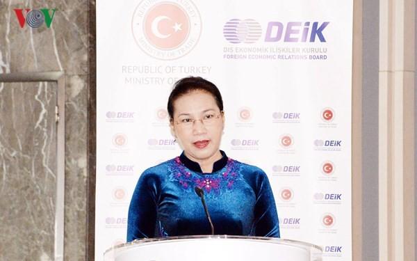Chủ tịch Quốc hội Nguyễn Thị Kim Ngân dự Diễn đàn Kinh doanh và Đầu tư Thổ Nhĩ Kỳ - Việt Nam - ảnh 1