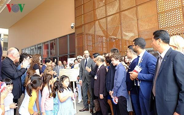 Thủ tướng Pháp Edouard Philippe tham dự lễ khánh thành trường Pháp Alexandre Yersin - ảnh 1