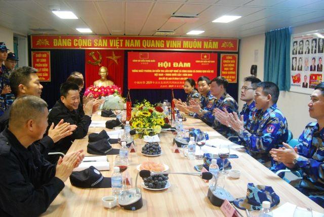 Cảnh sát biển Việt Nam và Trung Quốc kiểm tra liên hợp nghề cá Vịnh Bắc Bộ - ảnh 1