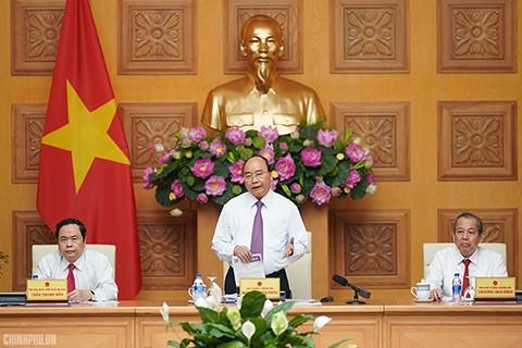 Thủ tướng Nguyễn Xuân Phúc làm việc với Ủy ban Trung ương Mặt trận Tổ quốc Việt Nam - ảnh 1