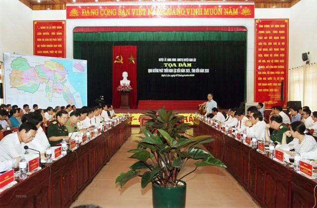 """Phó Thủ tướng Vương Đình Huệ dự tọa đàm """"Định hướng phát triển Nghi Lộc đến năm 2025, tính đến năm 2030""""  - ảnh 1"""