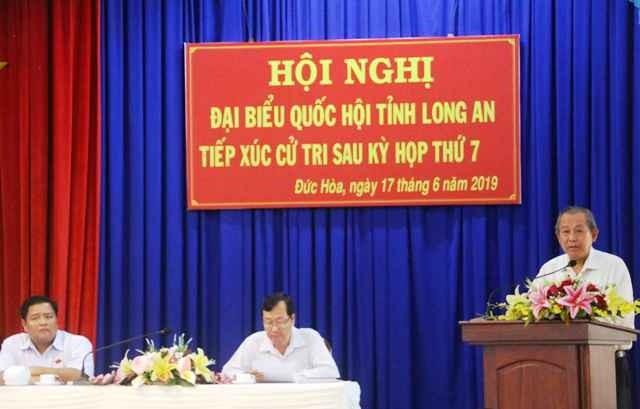 Phó Thủ tướng Thường trực Chính phủ Trương Hòa Bình tiếp xúc cử tri huyện Đức Hòa, Long An - ảnh 1