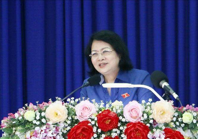 Phó Chủ tịch nước Đặng Thị Ngọc Thịnh dự lễ phát động phong trào thi đua tại Lai Châu - ảnh 1