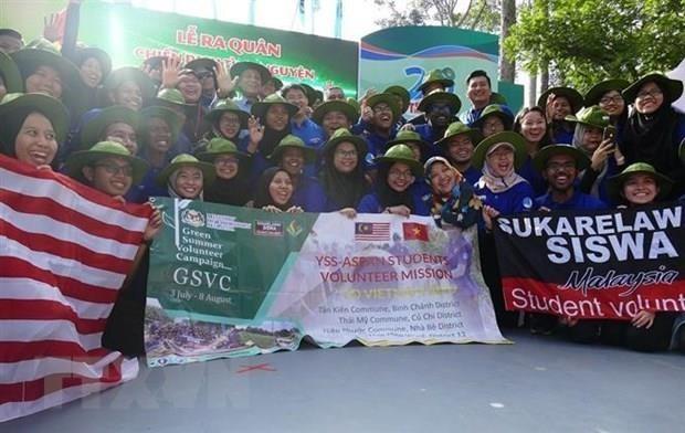 """Sinh viên Malaysia tham gia Chiến dịch tình nguyện """"mùa Hè xanh"""" tại Việt Nam - ảnh 1"""