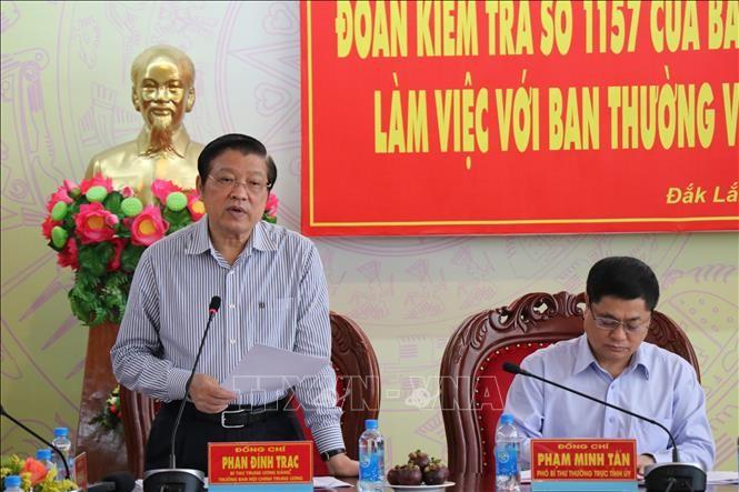 Đoàn kiểm tra của Ban Bí thư kiểm tra kết quả thực hiện nghị quyết Trung ương 4 khóa XII tại tỉnh Đắk Lăk - ảnh 1