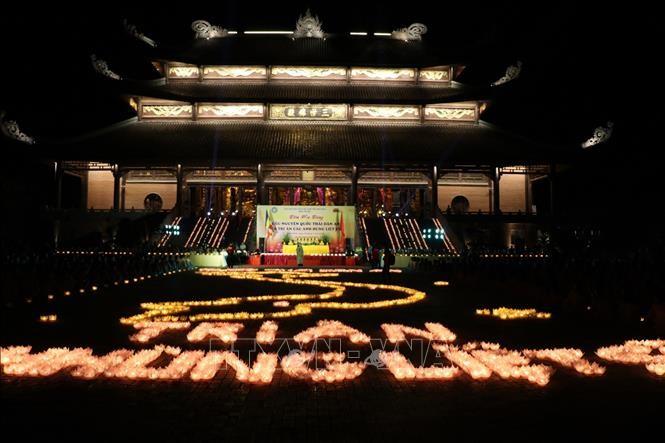 Nhân ngày Thương binh Liệt sỹ 27/7: Đêm hội hoa đăng tri ân các Anh hùng Liệt sỹ tại Ninh Bình - ảnh 1