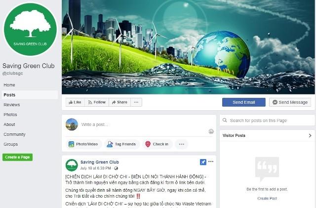 Câu lạc bộ Saving Green ở tỉnh Kiên Giang truyền cảm hứng sống xanh - ảnh 1