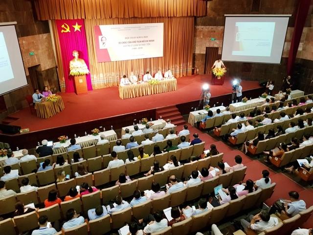 """Hội thảo khoa học """"Di chúc của Chủ tịch Hồ Chí Minh - Giá trị lý luận và thực tiễn"""" - ảnh 1"""