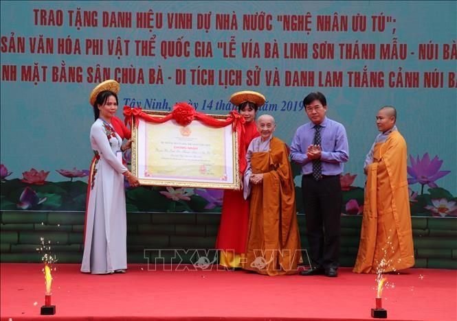 Lễ vía bà Linh Sơn Thánh Mẫu - núi Bà Đen được công nhận Di sản văn hóa phi vật thể quốc gia - ảnh 1
