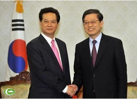 PM Vietnam Nguyen Tan Dung mengakhiri kunjungan-nya di Republik Korea - ảnh 1